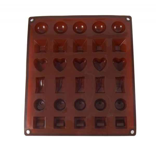 Dope Molds Silicone Gummy Mold - 30 Cavity Classic Chocolate Shapes