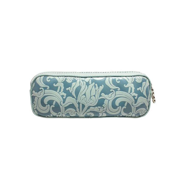 "Erbanna 7.5"" x 2.8"" x 2"" Smell Proof Small Carry Case, Great for Pen Vapes - Rae - Silver Flower Print"