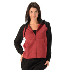 Women's Hemp 2 Tone Hoodie Black/Burgandy