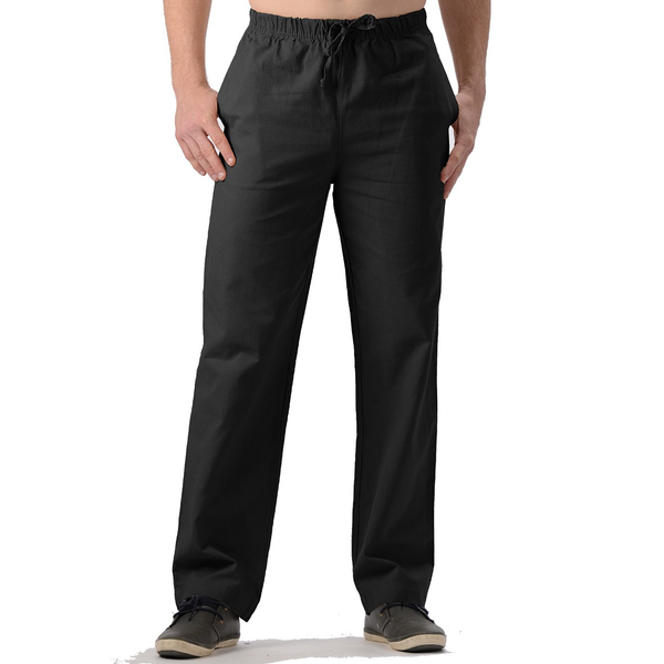 Men's Hemp/Organic Cotton Pants-Black