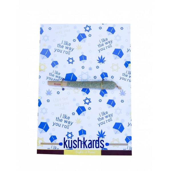 "KushKards ""just add a pre-roll"" Greeting Card - Roll With It"