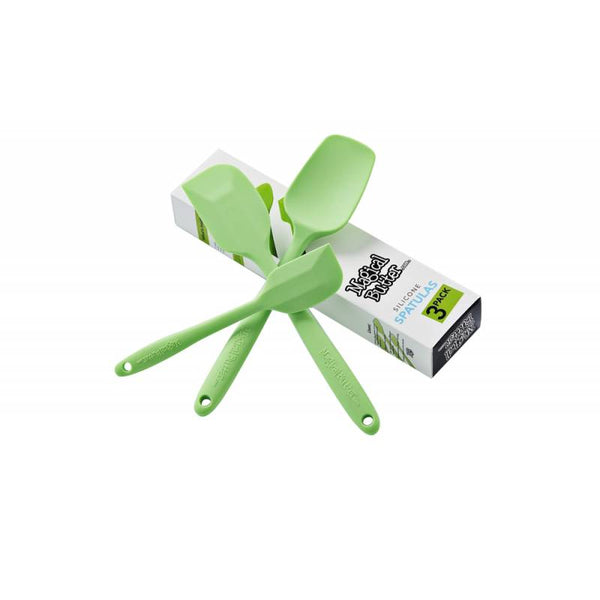 Magical Butter Silicone Spatula Set of 3 w/ 1 Spatula, 1 Spoonula & 1 Mini Spatula