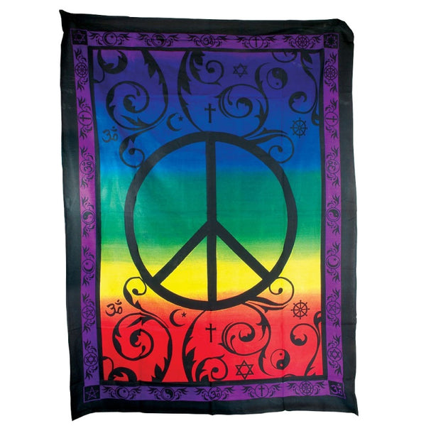 "55"" x 85"" Tapestry – Peace"