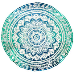 "85"" Round Tapestry - Concentric Mandala"