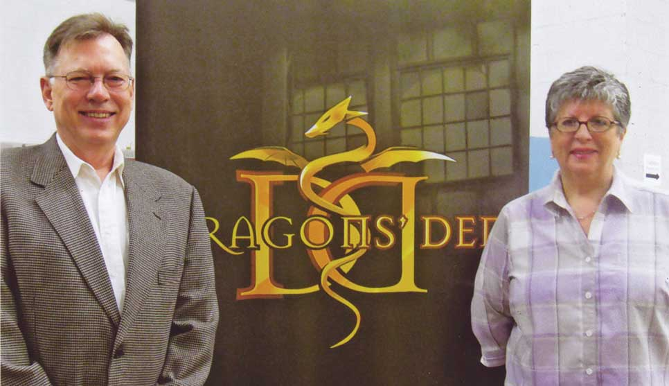 Brian and Corin in the Dragons' Den
