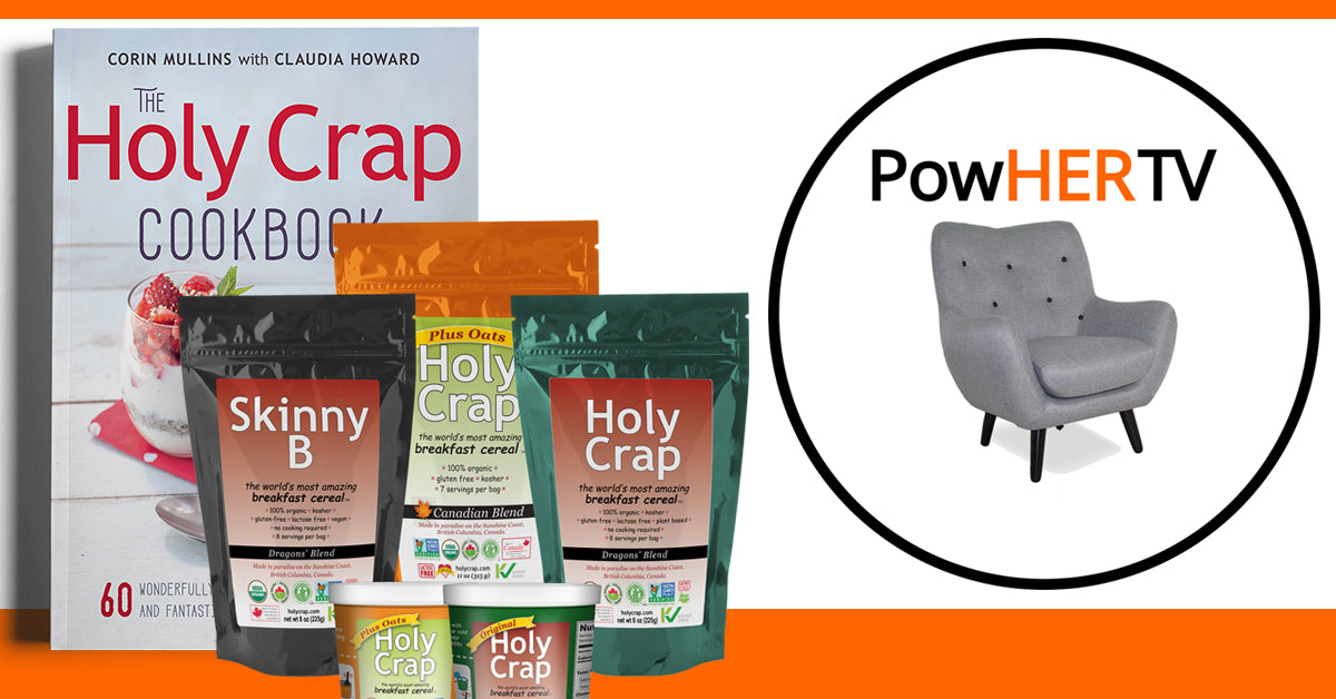 Enter to Win! Tickets to a PowHER TV Launch Party, a Holy Crap Cookbook, and cereal