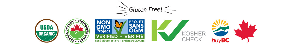 Organic Non GMO Kosher certifications for Plus Gluten Free Oats breakfast cereal