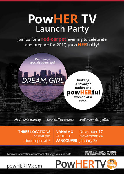 PowHER TV Launch Party poster