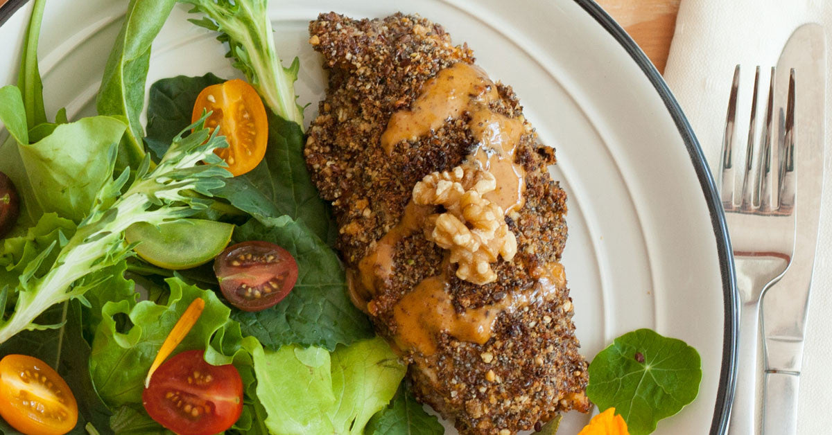 Walnut Crusted Chicken recipe