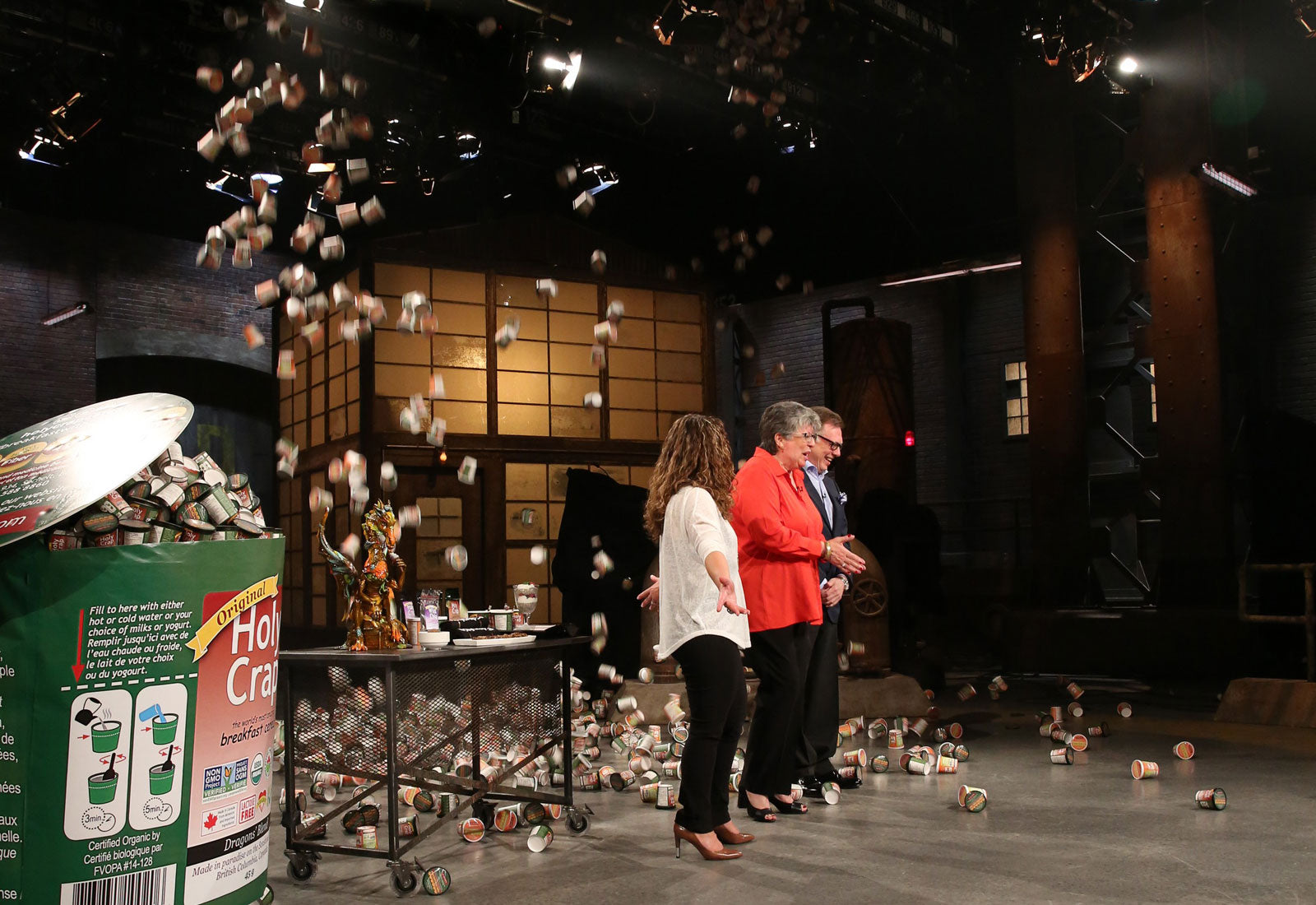 Brian and Corin Mullins on the Dragons Den set