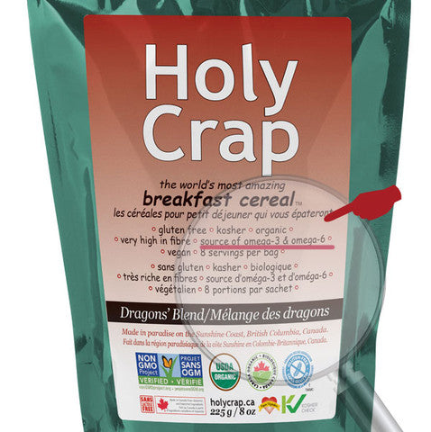 Holy Crap contains your daily requirement of Omega 3