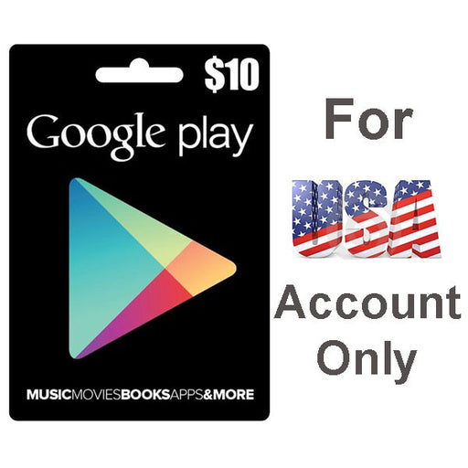Google Play Cards 10$ for USA Account Only (GOOGLPLAY-10$)