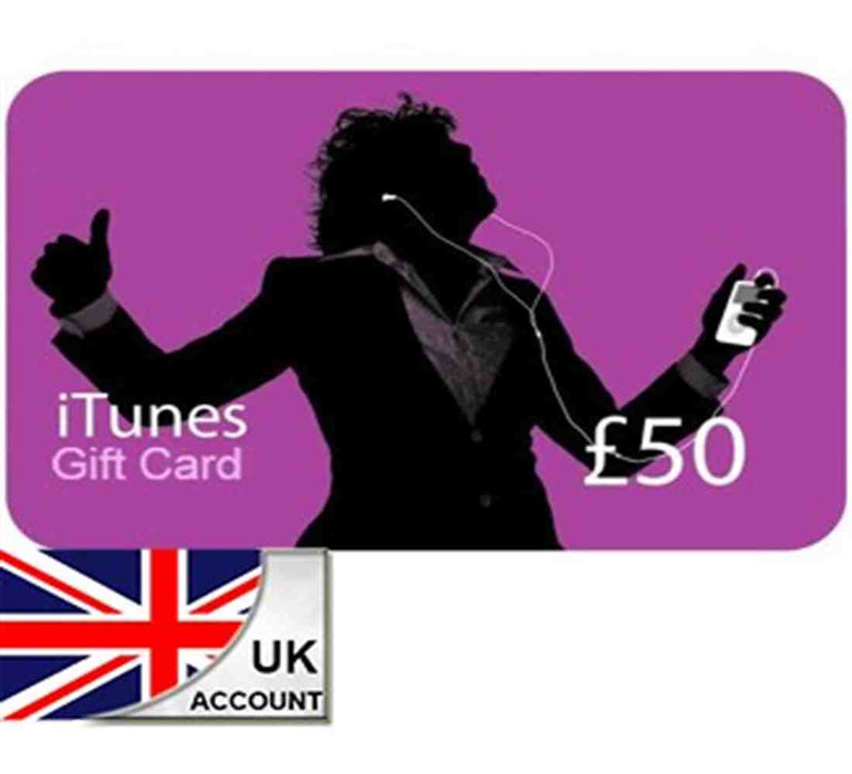 iTunes Gift Crad £50 UK - Delivery by Email