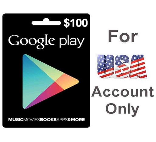 Google Play Cards 100$ for USA Account Only (GOOGLE PLAY-100$)
