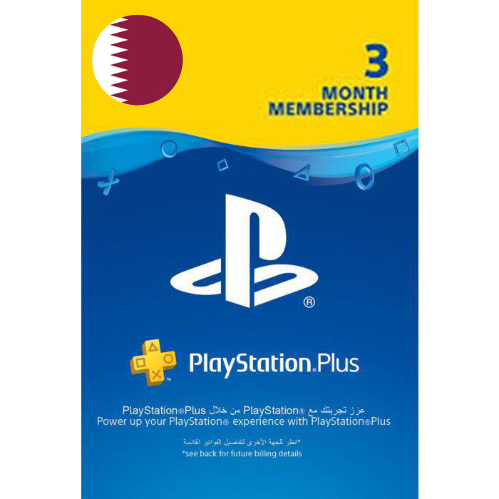 Sony PSN Plus 3 Month Memebership - Qatar Account