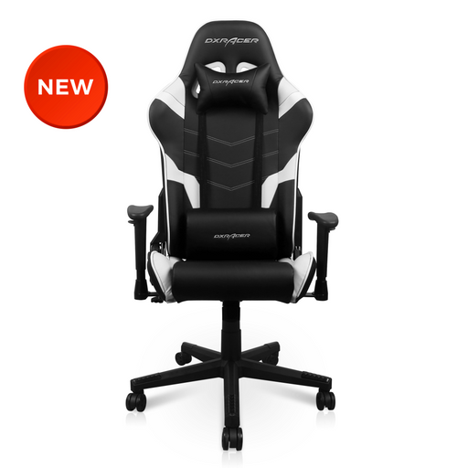 2021 DXRacer P Series Gaming Chair Conventional PVC Leather D6000 - Black/White