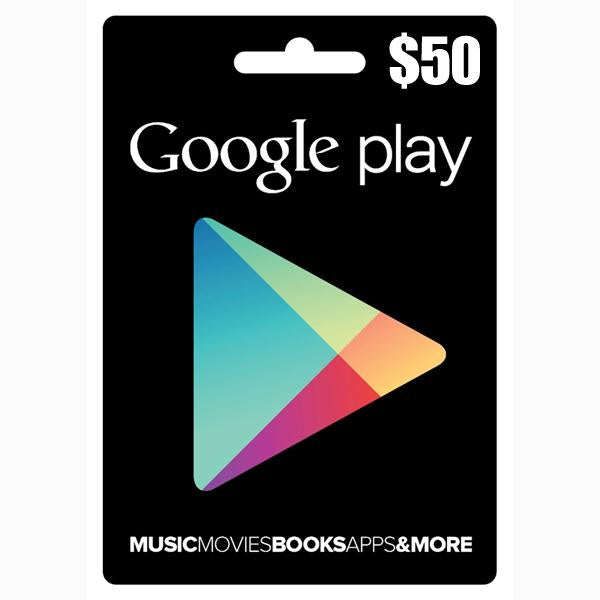 Google Play Cards 50$ for USA Account Only (GOOGLPLAY-50$)