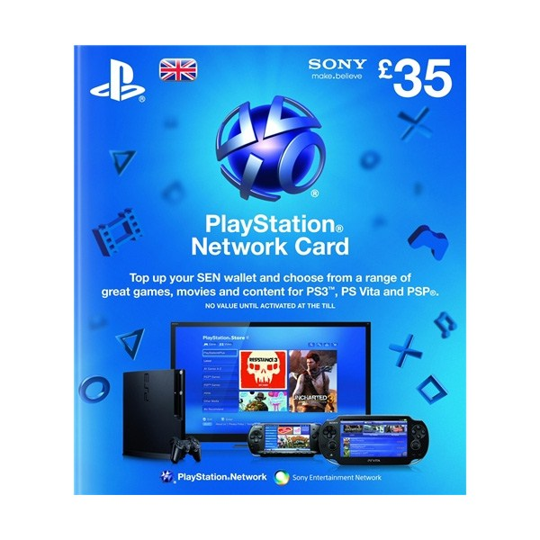 SONY Playstation Network Card £35 - PSN UK Account