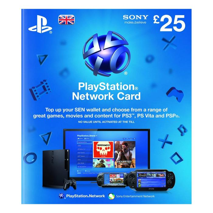 SONY Playstation Network Card £25 - PSN UK Account