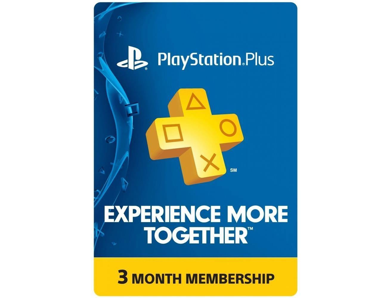 SONY Playstation Plus Card - 3 Month Membership Cards - US Account