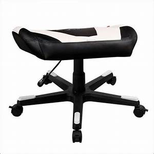 DXRacer Foot Stool - Black/White