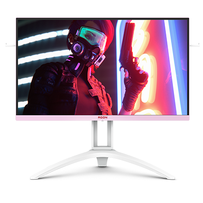 "AOC AGON 27"" Inches IPS Gaming White & Pink premium RGB 1ms-144Hz Resolution 1920x1080"