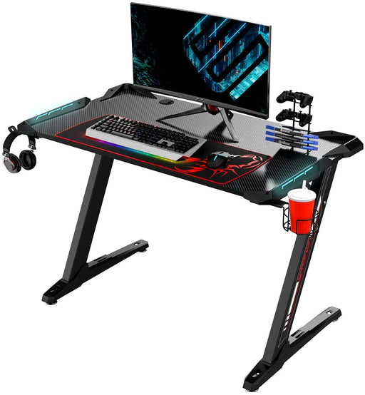Eureka Ergonomic Z1-S PRO Gaming Desk With RGB Lights - Black
