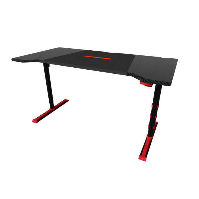 Twisted Minds GDTS-4F RGB Gaming Desk - Black/Red