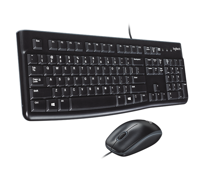 Logitech MK120 wired Keyboard & Mouse - Arb/Eng