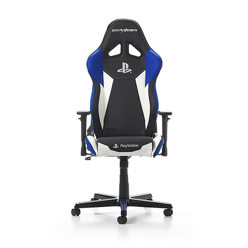 DXRacer Playstation Edition Gaming Chair, Multi System Compatible - Black/Blue/White