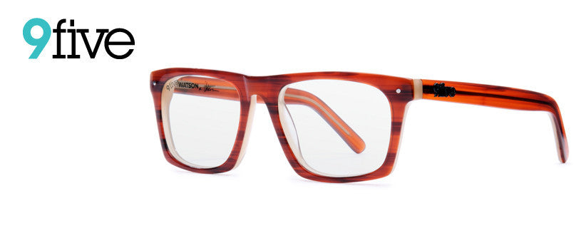 9Five Watson Pro Model Woodgrain W/ Clear Lens