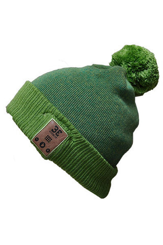 BE Headwear Fiendish Bluetooth Audio beanie - Olive on Olive