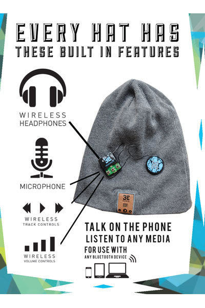 BE Headwear Justright Bluetooth Audio beanie - Heather Grey