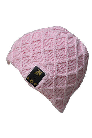 BE Headwear Lovespun Bluetooth Audio beanie - Coral Pink