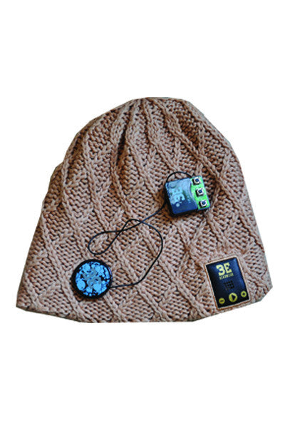 BE Headwear Lovespun Bluetooth Audio beanie - Sandy Brown