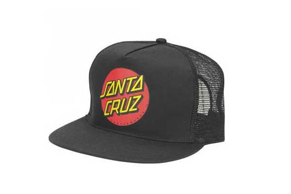 Santa Cruz Classic Dot Trucker - Black