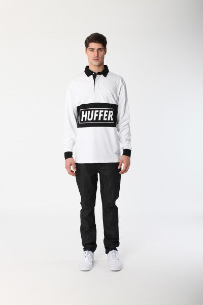 Huffer The Bowler L/S Polo - White
