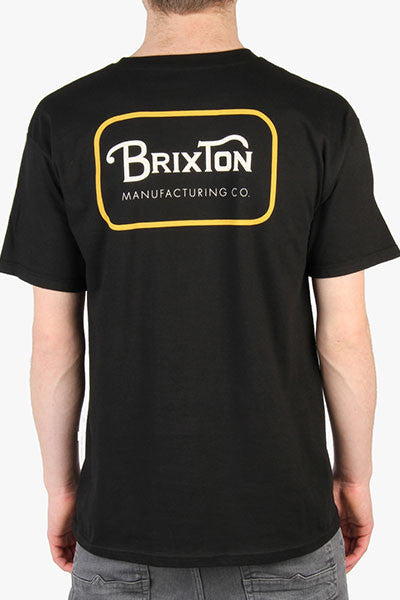 Brixton Grade S/S Stnd Tee - Black/Orange