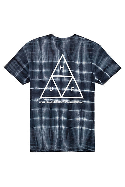 HUF Triple Triangle Column Wash Tee - Black