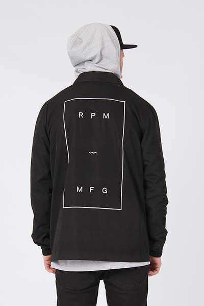 Rpm Coaches Jacket - Black