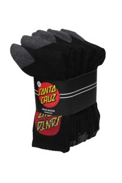 Santa Cruz 5 Pack Socks - Black