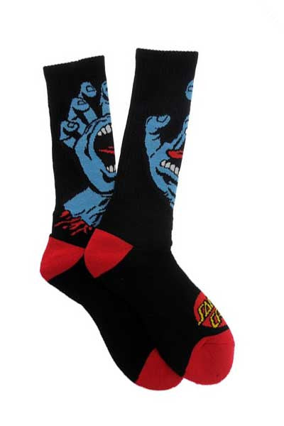 Santa Cruz Screaming Hand 3 Pack Socks - Black