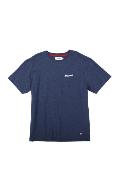 Diamond City Script Tee  - Heather Navy