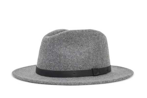Brixton Messer Fedora - Heather Grey