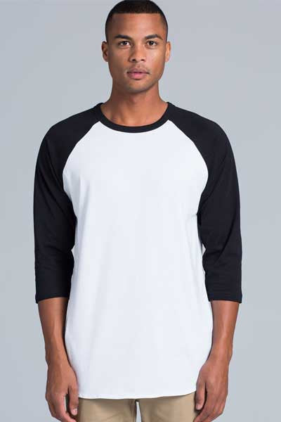 AS Colour Raglan 3/4 Tee - White/Navy