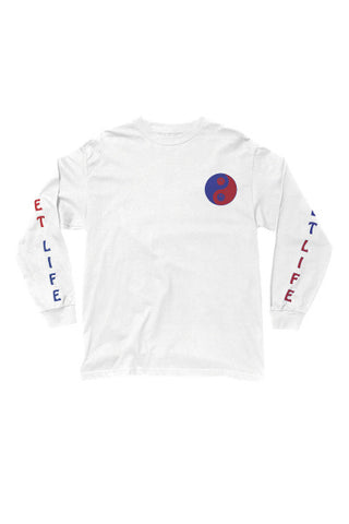 The Quiet Life Kung Fun Club LS Tee - White