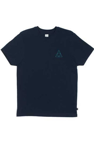 HUF Triple Triangle Tee - Navy Heather