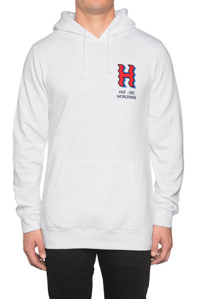 HUF Crooked H Pullover Hoodie - White