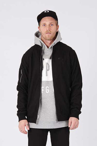 Rpm Wool Bomber - Black