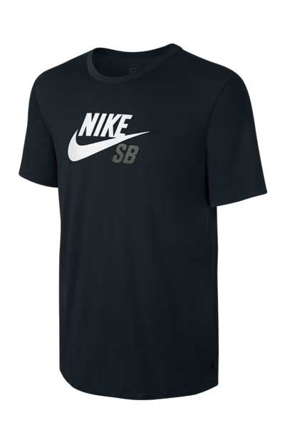 Nike SB Dri-Fit Icon Logo Tee - Black/White